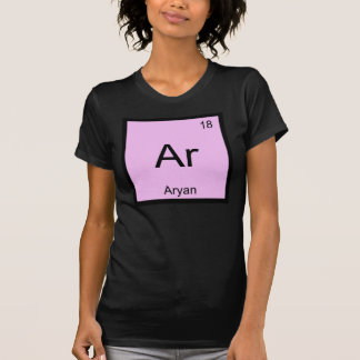 Aryan Name Chemistry Element Periodic Table T-Shirt