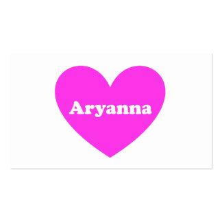 Aryanna Business Card