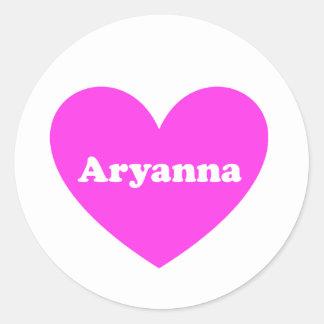 Aryanna Classic Round Sticker