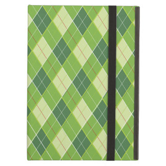 Arygle style patterned green ipad powis case