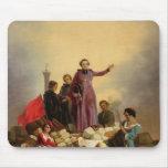 Arzobispo Affre en las barricadas, 1848 Alfombrillas De Raton