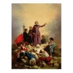 Arzobispo Affre en las barricadas, 1848 Tarjeta Postal