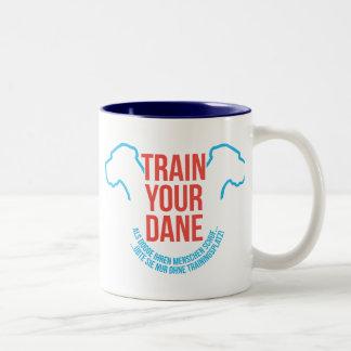As a Dogge created its humans Two-Tone Coffee Mug
