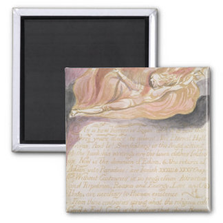 """""""As a new heaven is begun"""" 2 Inch Square Magnet"""