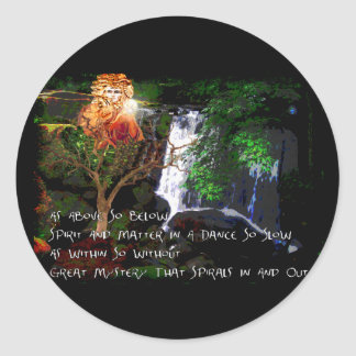 As Above So Below Classic Round Sticker