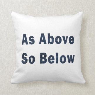 as above so below denim textured pagan saying.png throw pillows