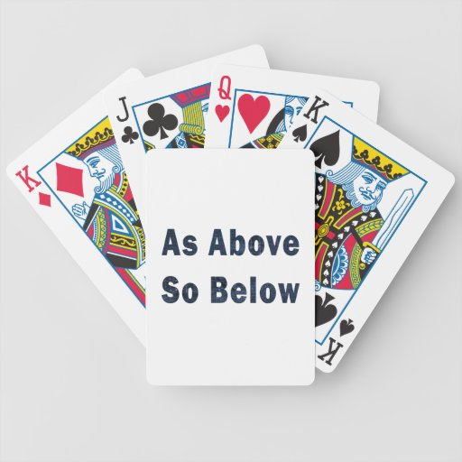 as above so below denim textured pagan saying.png playing cards