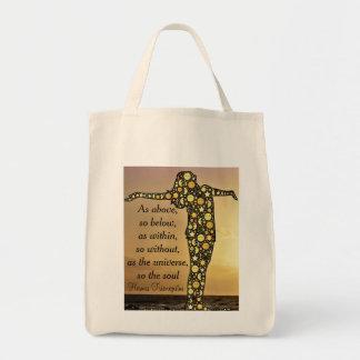 AS ABOVE, SO BELOW grocery tote bag