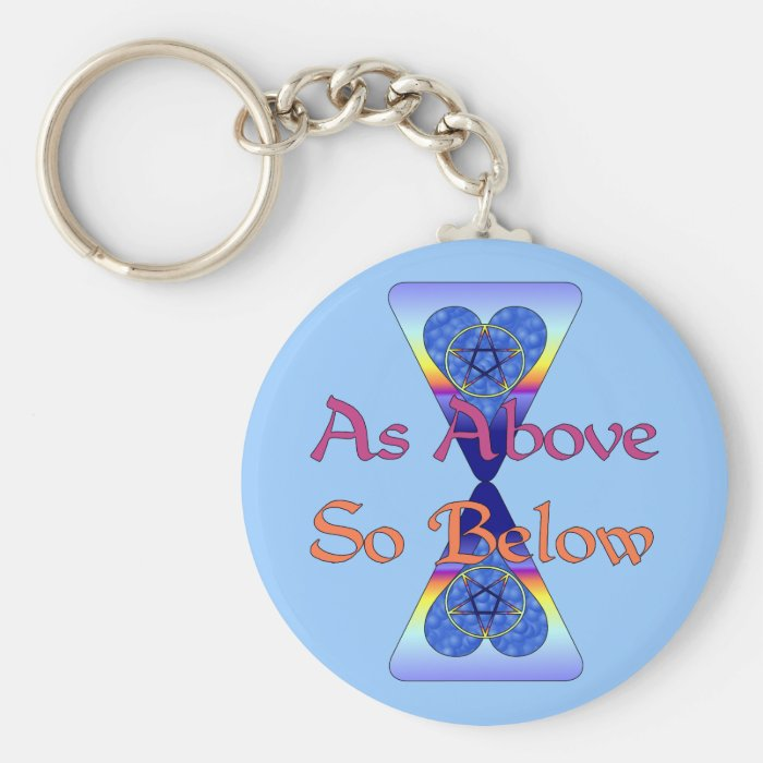 As Above So Below Keychain