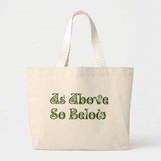 As Above, So Below Large Tote Bag