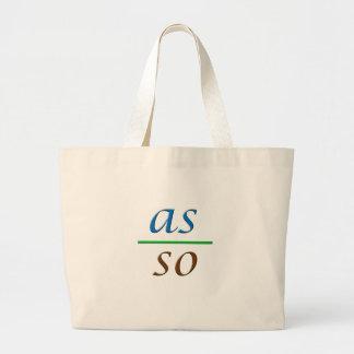 as above so below large tote bag