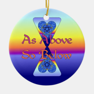 As Above So Below Christmas Ornaments