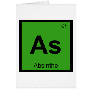 As - Absinthe Chemistry Periodic Table Symbol Card