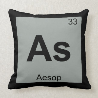As - Aesop Fables Chemistry Periodic Table Symbol Throw Pillows