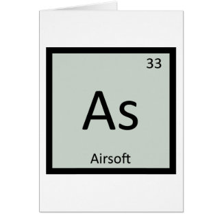 As - Airsoft Sports Chemistry Periodic Table Card