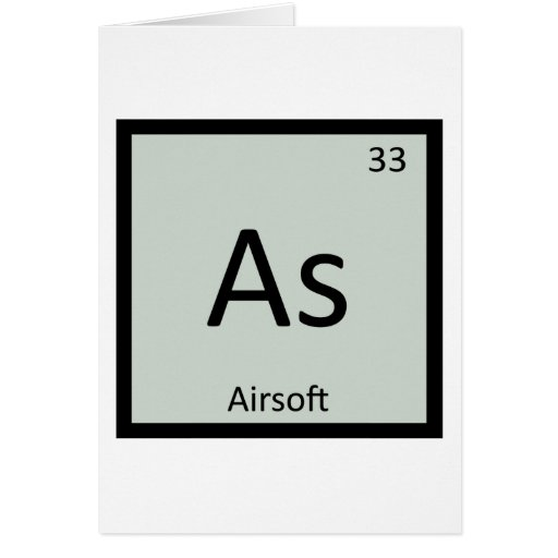 As - Airsoft Sports Chemistry Periodic Table Cards