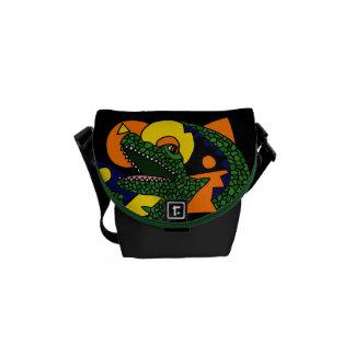AS- Alligator Art Mini Messenger bag