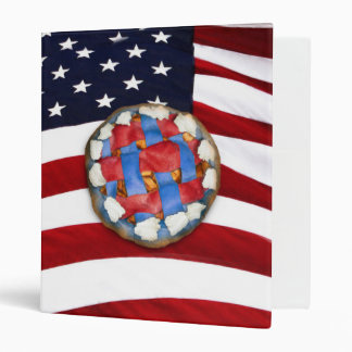 As American As a Red White & Blue Apple Pie 3 Ring Binders