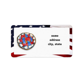 As American As a Red White Blue Apple Pie Personalized Address Labels