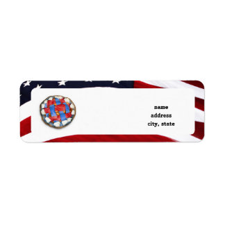 As American As a Red White Blue Apple Pie Return Address Label