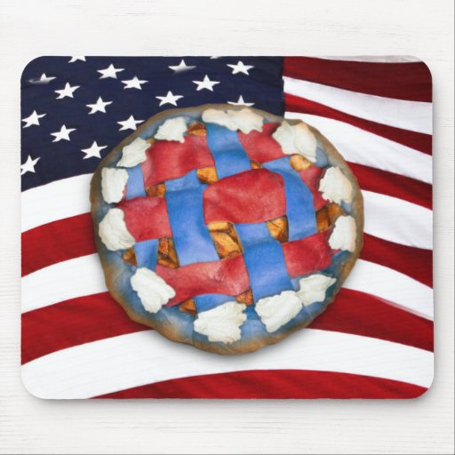 As American As a Red White & Blue Apple Pie Mouse Pad