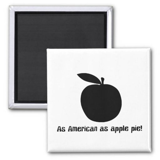 As American As Apple Pie 2 Inch Square Magnet