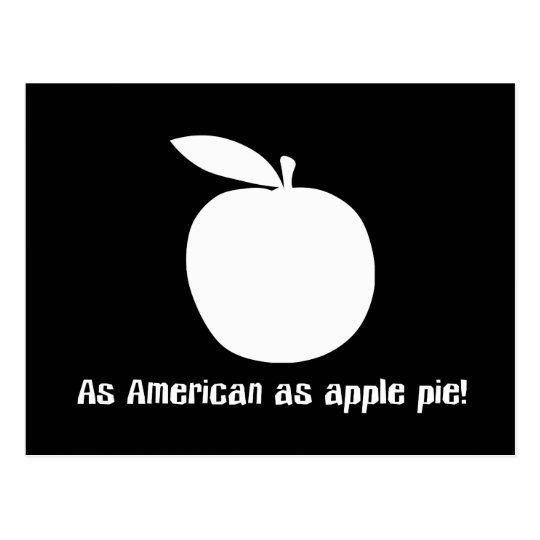As American As Apple Pie Postcard