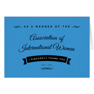 As an AIW Member, I Sincerely Thank You Stationery Note Card