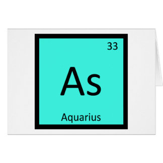 As - Aquarius Zodiac Chemistry Periodic Table Card
