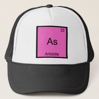 As - Aristotle Funny Element Chemistry Symbol Tee Trucker Hat