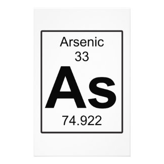 As - Arsenic Stationery