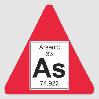 As - Arsenic Triangle Sticker