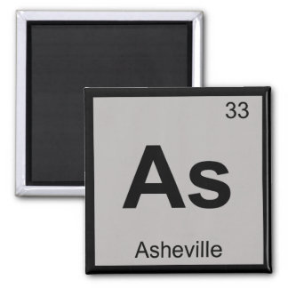 As - Asheville North Carolina Chemistry Symbol Magnet
