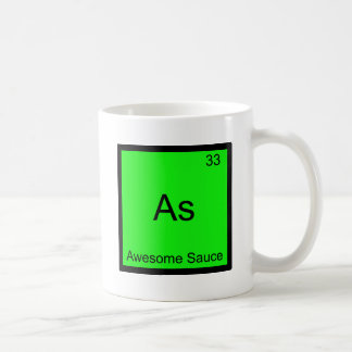 As - Awesome Sauce Chemistry Element Symbol Tee Classic White Coffee Mug
