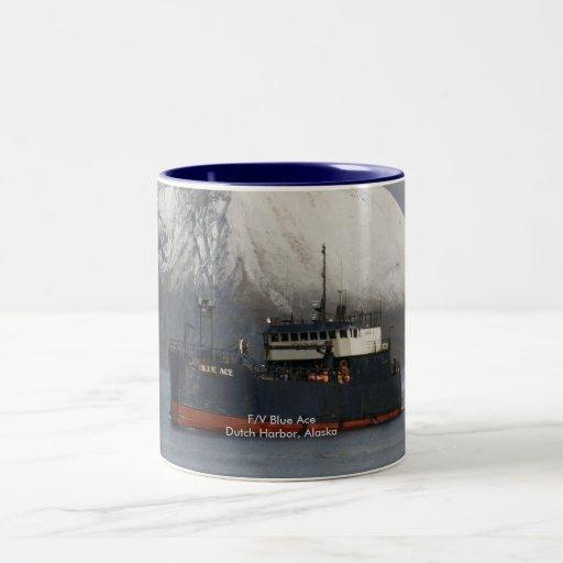 As azul, barco pesquero del palangrero taza