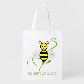 As Busy As A Bee Grocery Bag