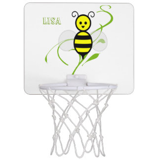 As Busy As A Bee Personalized Mini Basketball Hoop