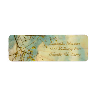 As Clouds Float By Return Address Label