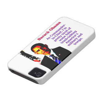 As Commander-In-Chief - Barack Obama iPhone 4 Case-Mate Case