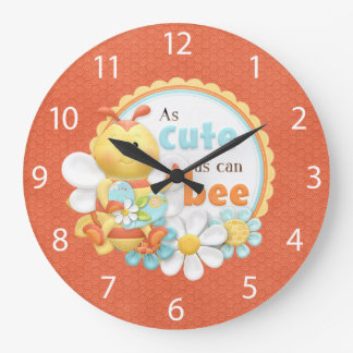 """As Cute As Can Bee"" ACRYLIC WALL CLOCK"
