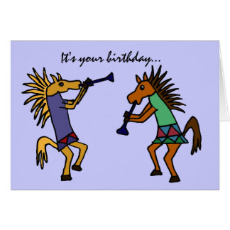 AS- Dancing Horses Birthday Card