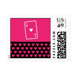 As de corazones timbre postal