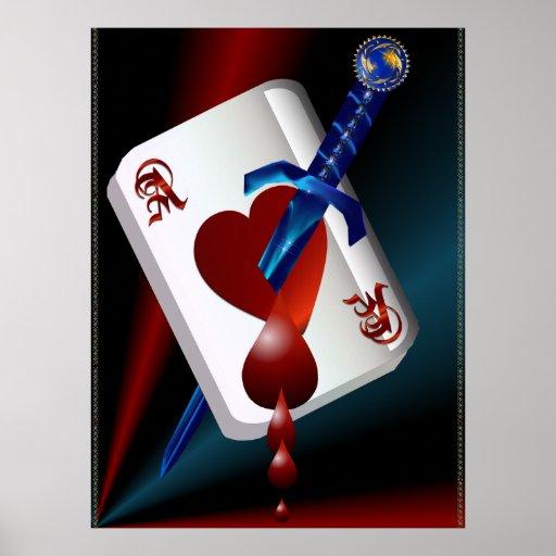 As de corazones y del poster de la daga