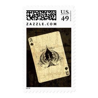 As de espadas retro sello postal