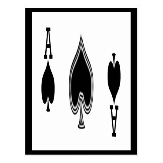 As de espadas tarjetas postales