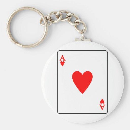 as de hearts.png llaveros personalizados