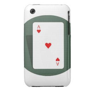 As de la caja de los corazones iPhone 3 carcasas