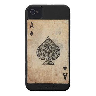 As de la caja del teléfono de las espadas iPhone 4 Case-Mate funda