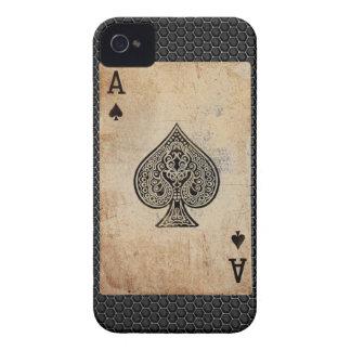 As de la caja del teléfono de las espadas iPhone 4 Case-Mate cárcasa
