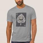 As de la camiseta frontal del diseño del cráneo de